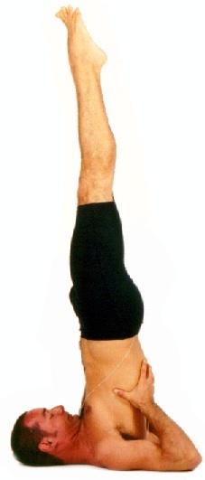 postura de Yoga SARVANGASANA