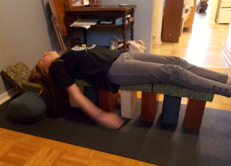 Savasana on stilts.